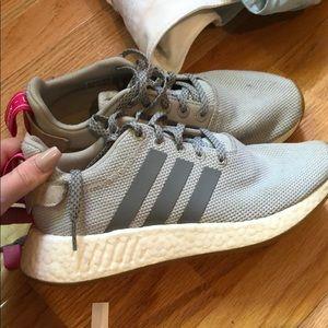slightly worn  Adidas tennis shoes